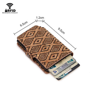 eprolo Men's - Bags - Crossbody - Fashion - Work - Shoulder - Bag - Wallets Mini RFID Card Blocking Leather Wallet