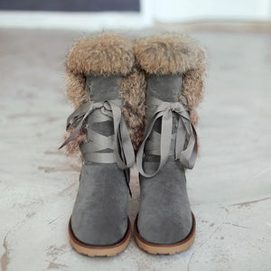 Sensationally Fabulous Mid-Calf Winter Slipper Boots