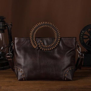 Retro Leather Versatile Shoulder Handbag - Sensationally Fabulous