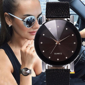 Simple Quartz Leather Strap Wrist Watch - Sensationally Fabulous