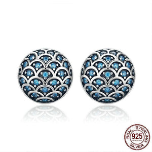 Sterling Silver CZ Stud Earrings - Sensationally Fabulous