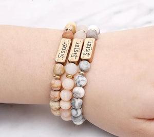 Sister, Brother, Hope Letter Beaded Rope Bracelet - Sensationally Fabulous