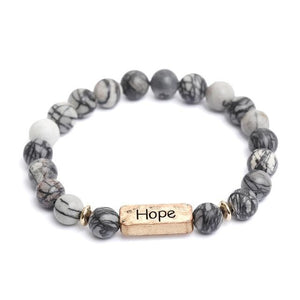 Oberlo Unisex-Jewellery-Bracelets-Necklace Hope Sister, Brother, Hope Letter Beaded Rope Bracelet