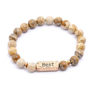 Oberlo Unisex-Jewellery-Bracelets-Necklace Best Sister, Brother, Hope Letter Beaded Rope Bracelet