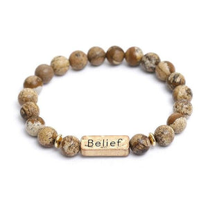Oberlo Unisex-Jewellery-Bracelets-Necklace Belief Sister, Brother, Hope Letter Beaded Rope Bracelet