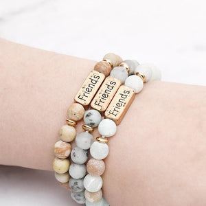 Oberlo Unisex-Jewellery-Bracelets-Necklace Sister, Brother, Hope Letter Beaded Rope Bracelet
