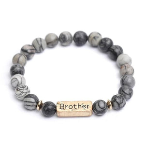 Oberlo Unisex-Jewellery-Bracelets-Necklace Brother 2 Sister, Brother, Hope Letter Beaded Rope Bracelet