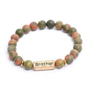 Oberlo Unisex-Jewellery-Bracelets-Necklace Brother Sister, Brother, Hope Letter Beaded Rope Bracelet