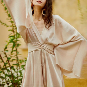 eprolo Clothing, Shoes & Accessories:Women:Women's Clothing:Dresses Vintage Bowknot Kimono Sleeve Tunic Dress