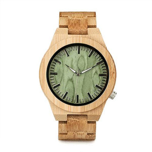 Fuchsia Max Watches mens45mm Classic Bamboo Wooden Watch