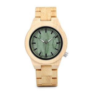 Fuchsia Max Watches women38mm Classic Bamboo Wooden Watch