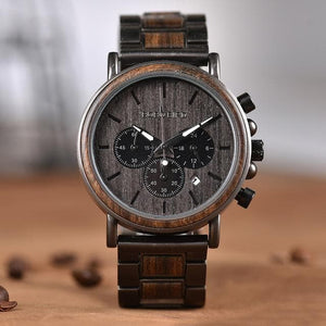 Chronograph Men's Luxury Wooden Quartz Watch - Sensationally Fabulous