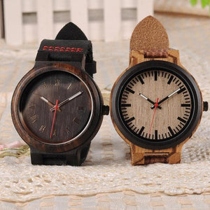 Fuchsia Max Watches His and Hers Wooden Quarts Watch