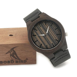 Men's 100% Natural Ebony Wood Quartz Watches - Sensationally Fabulous
