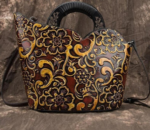 Oberlo Women - Bags - Leather-Crossbody-Shoulder-Hand Bag Handmade Bohemian Shoulder Tote Leather Handbag
