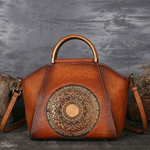 Handmade Leather Shoulder Handbag - Sensationally Fabulous