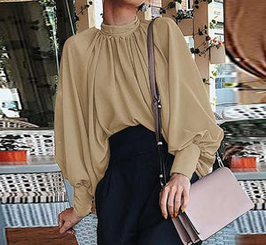 Chic Lantern Sleeve Chiffon Blouse - Sensationally Fabulous