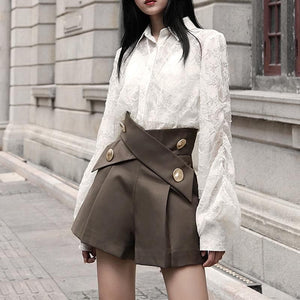Asymmetrical Loose Shorts - Sensationally Fabulous