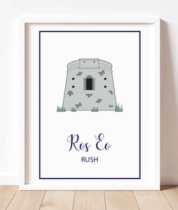 Martello Tower Rush | Prints of Ireland