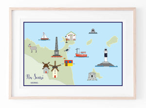 Map Of Skerries (Landscape) | Prints of Ireland