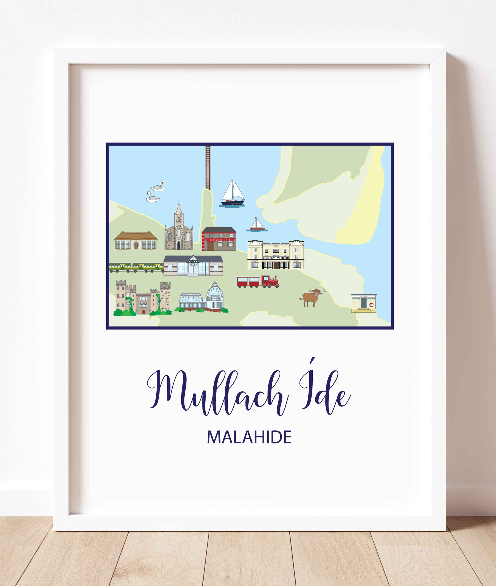 Map Of Malahide (Portrait) | Prints of Ireland