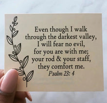 Load image into Gallery viewer, Psalm 23 Scripture Card