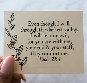 Psalm 23 Scripture Card