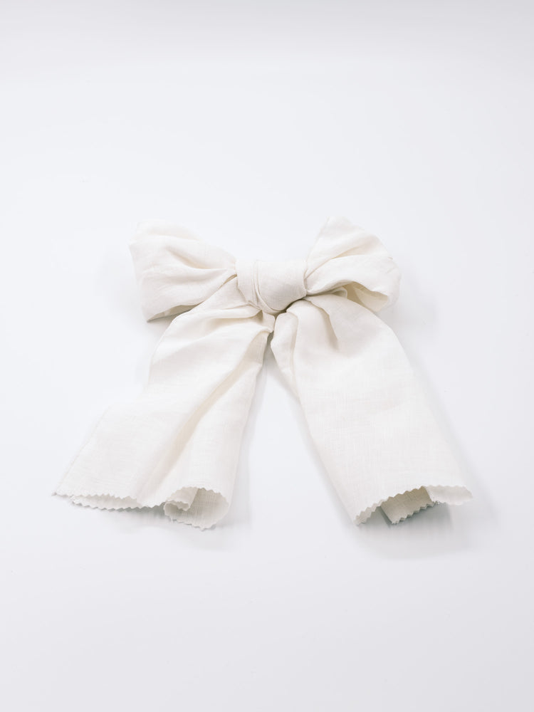 Load image into Gallery viewer, HAIR BOW IVORY