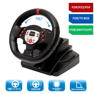 180 Degree Driving Sport Gaming Racing Wheel A