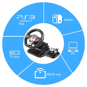 180 Degree Driving Sport Gaming Racing Wheel B