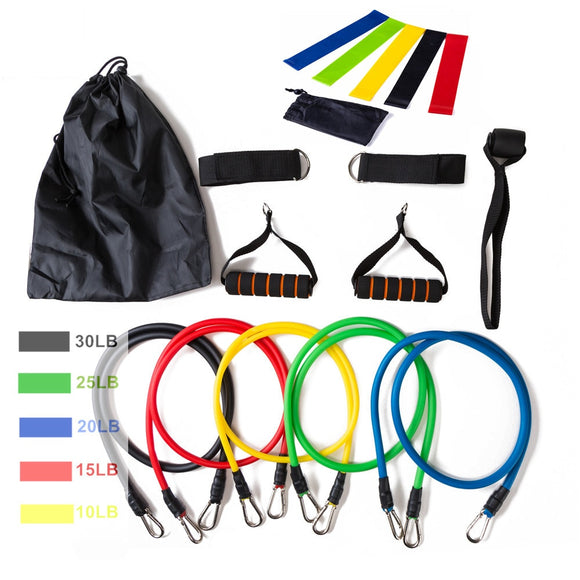Latex Resistance Bands With Bag Kit Set Yoga Exercise