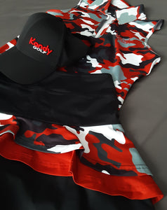 COMING SOON    pre- orders only, Kandy Camo Regular fit Racer Back top
