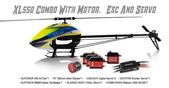 XL55K04 XL550 Combo With Motor、Esc And Servos