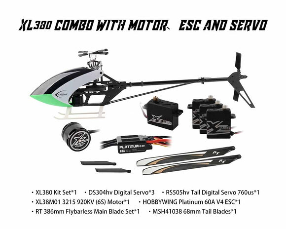 XL38K02 XL380 Combo With Motor, Esc And servos