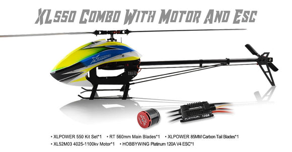XL55K03 XL550 Combo With 4025 Motor And HW 120A V4 ESC