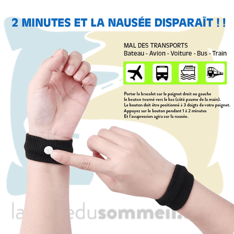 Bracelet Mal des Transports <br> acupression <br> lot de 2 - navy - La Route du Sommeil