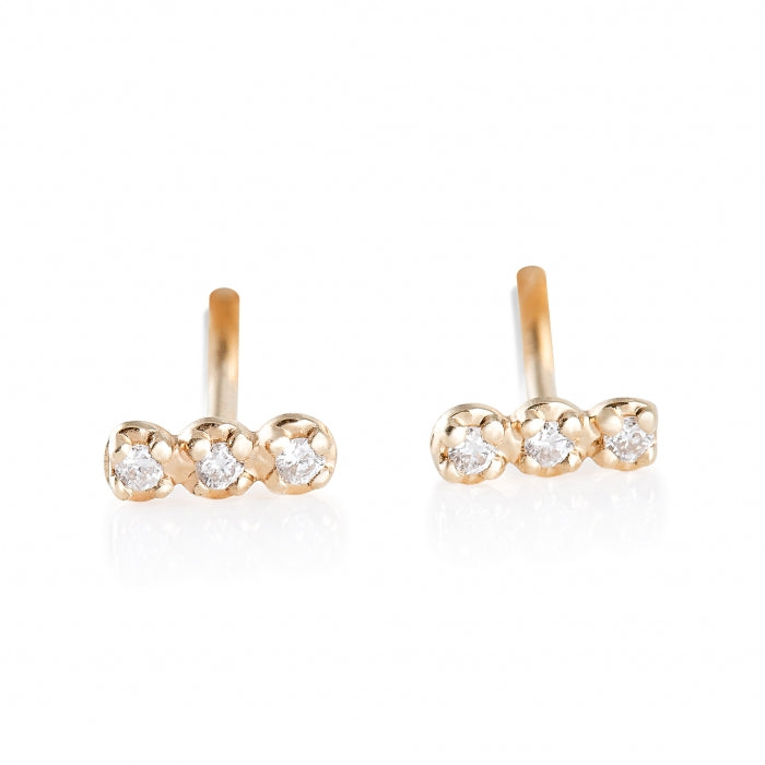 Diamond Strip Studs