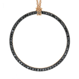 Baby Black Diamond Circle On Chain