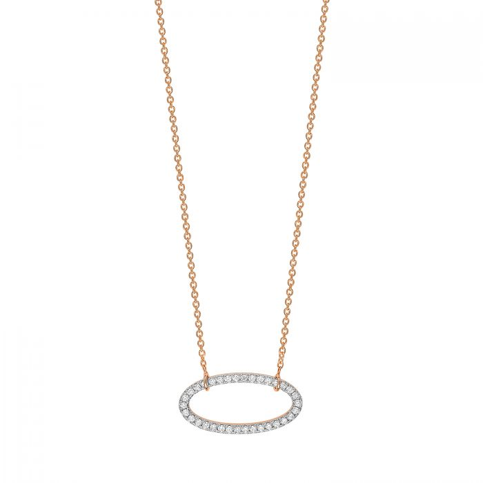 Ellipse Diamond Necklace