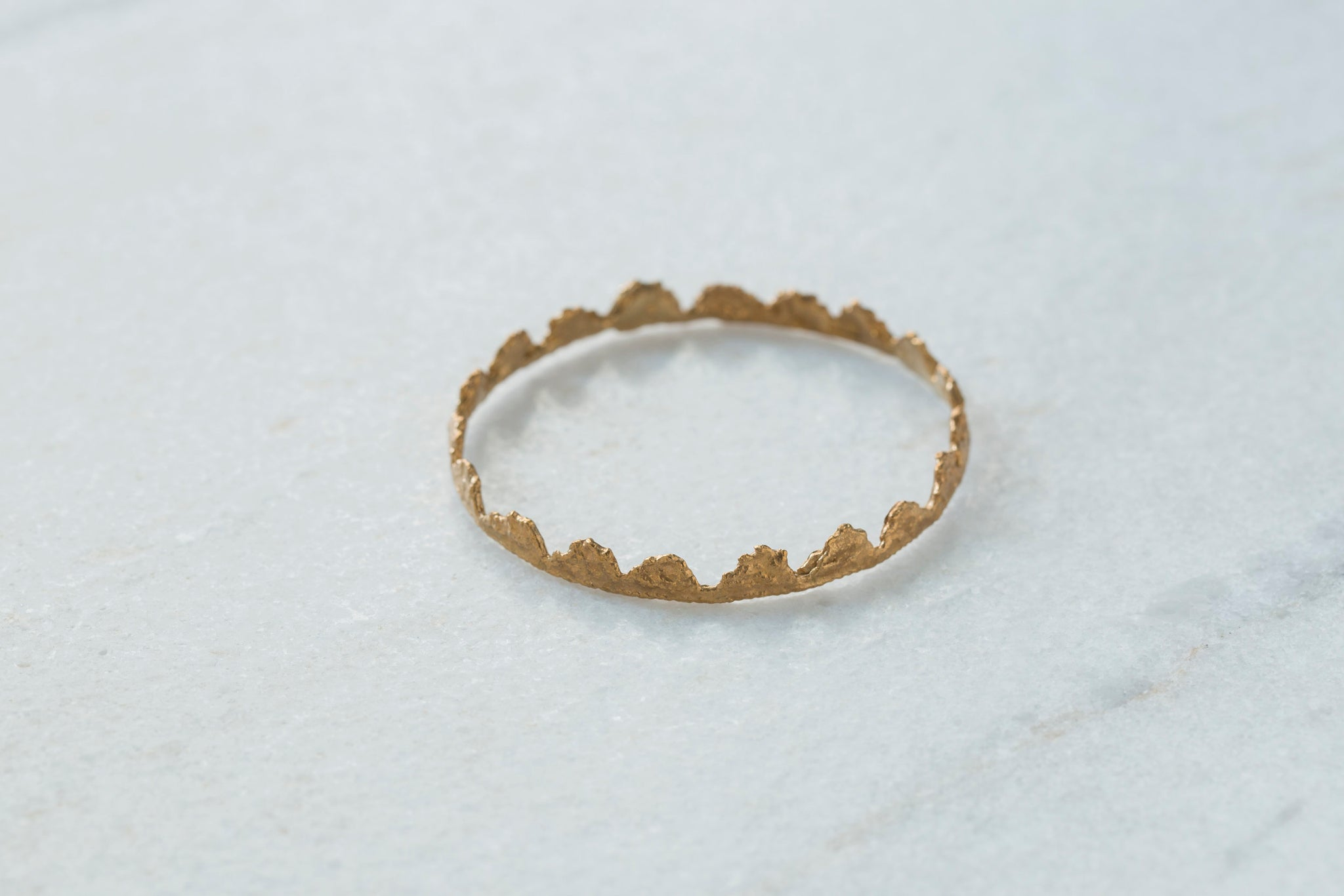 Bronze Ruffle Bangle