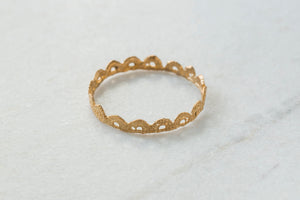 Bronze Scalloped Bangle