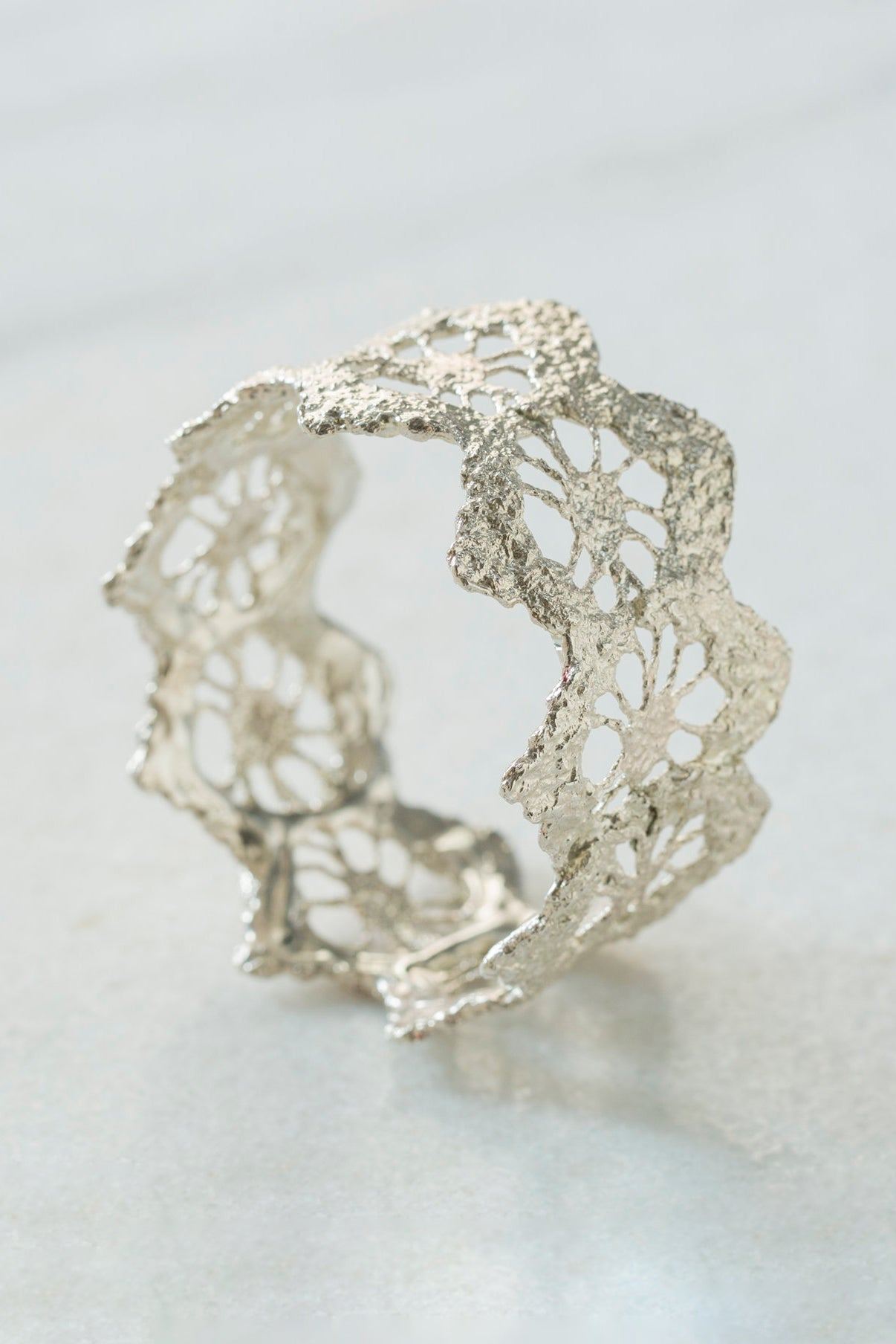 Silver Diamond Bangle