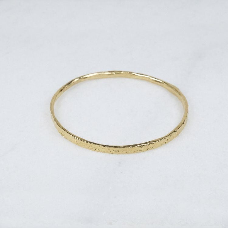 14k Yellow Gold Thin Bangle