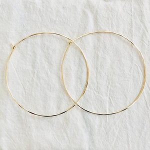 14k Light Hoops
