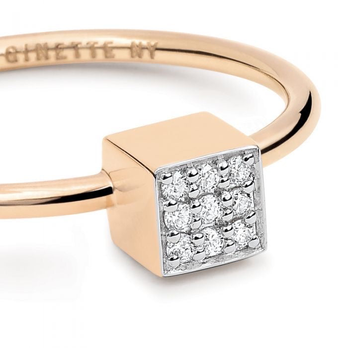 Mini Diamond Ever Square Ring