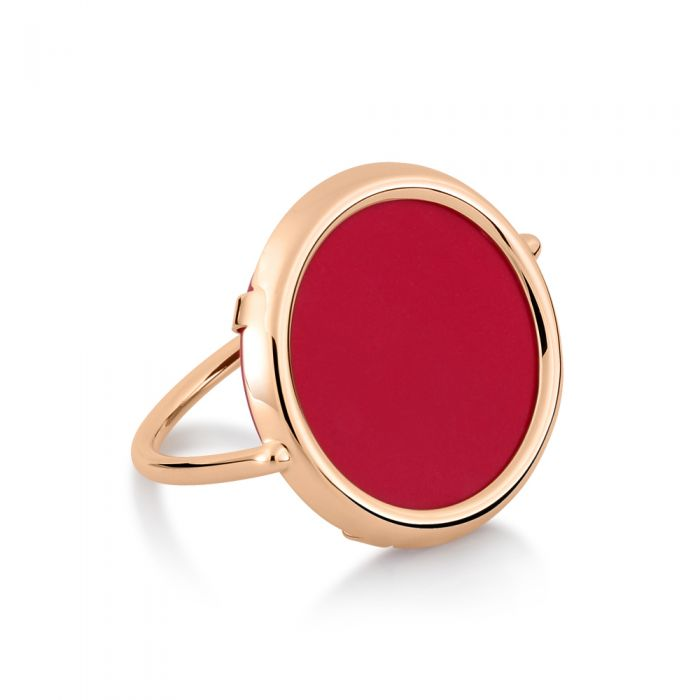 Maria Coral Disc Ring