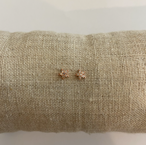 18K Rose Gold + Diamond Star Earrings