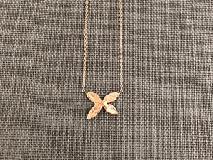 14k Rose Gold X Necklace