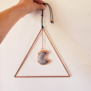 Druzy Moon and Copper Wall Hanging - Shop Dreamers of Dreams