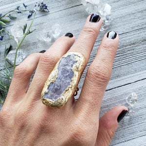 Large Lepidolite Priestess Ring - Shop Dreamers of Dreams